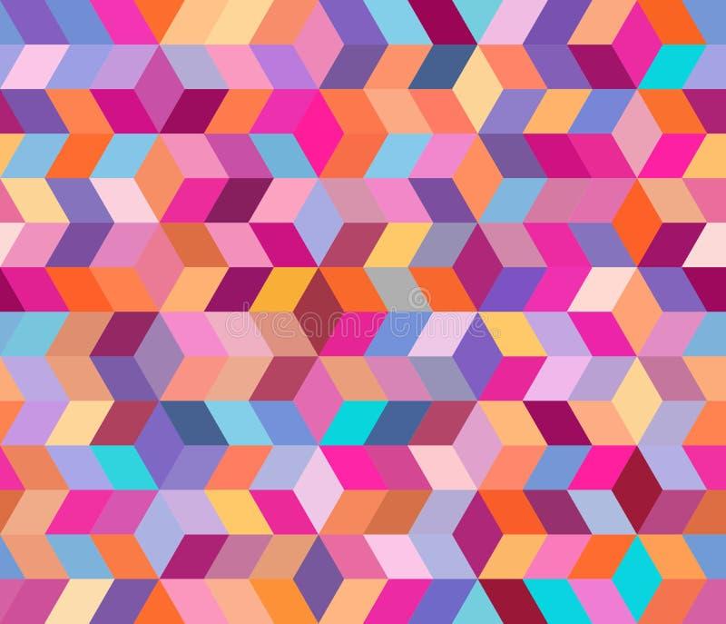 Abstraktes geometrisches Muster mit geometrischen Formen Endloser Hintergrund von dekorativen Elementen ENV 10 lizenzfreie abbildung