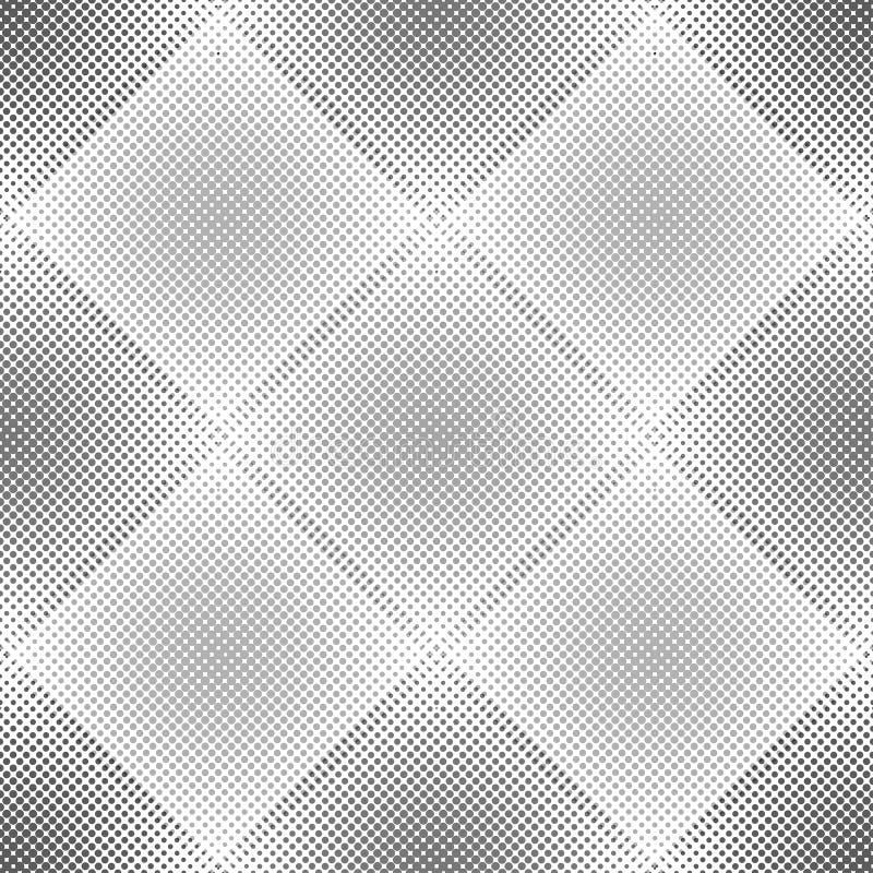 Abstraktes geometrisches Muster mit Rauten Wiederholen des nahtlosen Vektorhintergrundes Graue und weiße Verzierung vektor abbildung