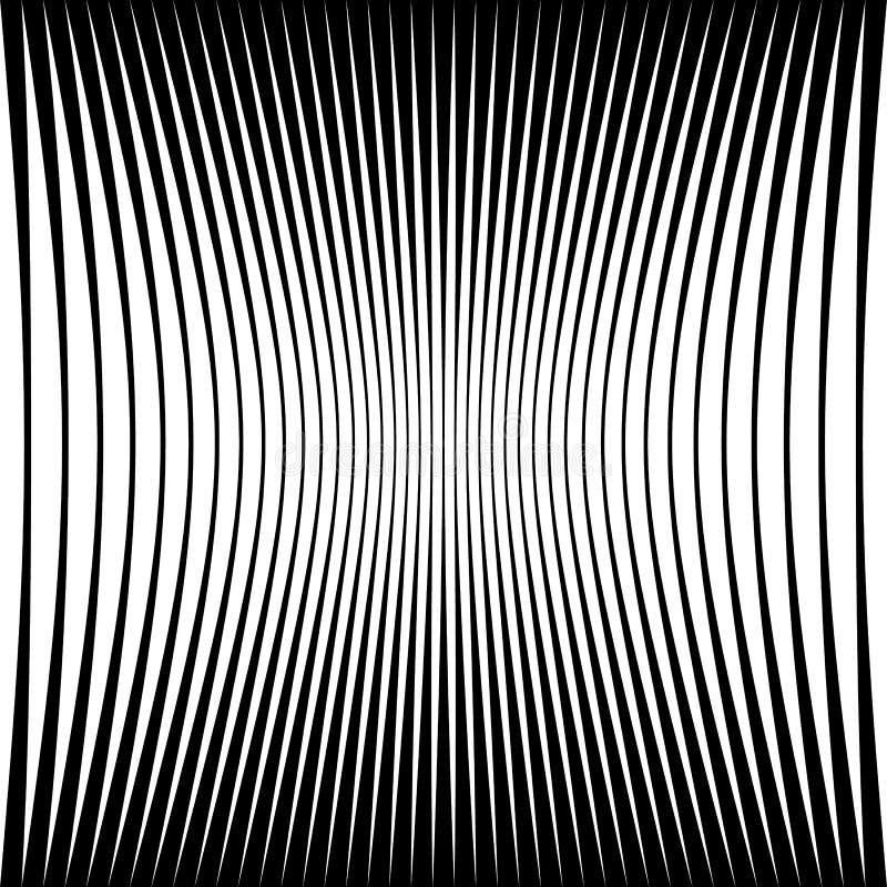 Abstraktes geometrisches Muster mit zusammendrücken-komprimierter Verzerrung e lizenzfreie abbildung