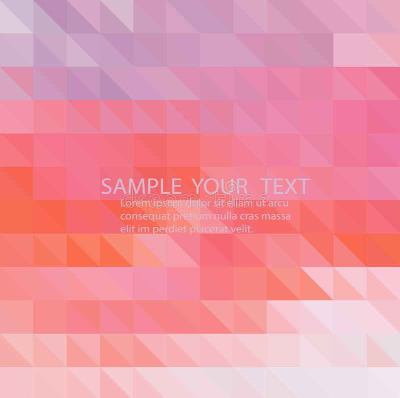 Abstraktes geometrisches Muster Rosa Dreieckhintergrund Kunstdesign für Ihre Projektplanung vektor abbildung