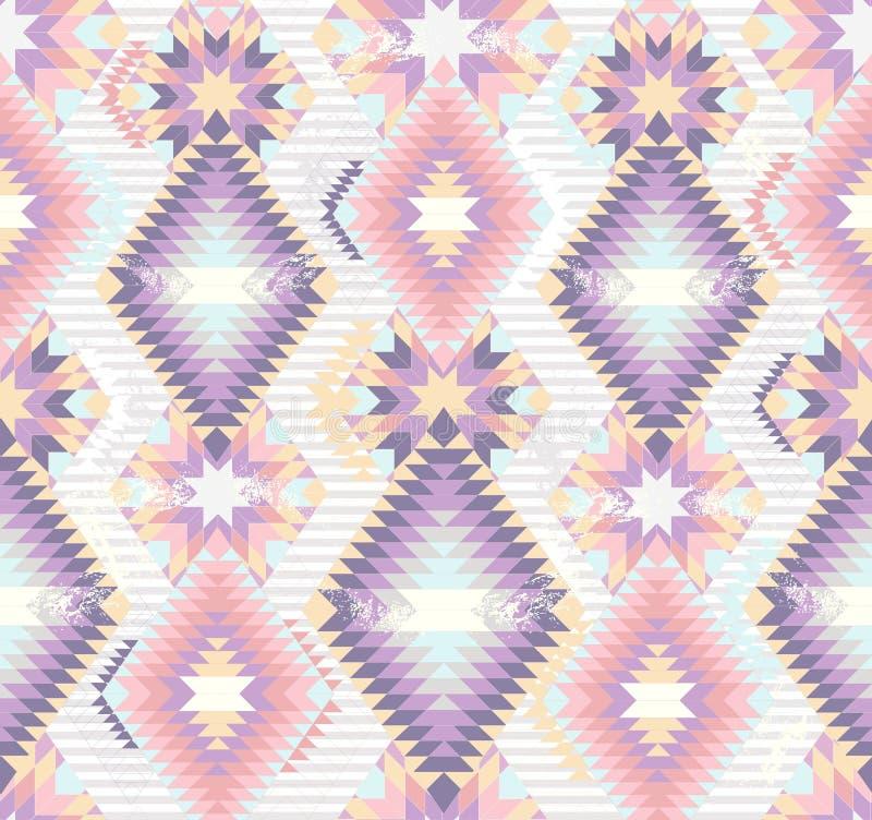 Abstraktes geometrisches nahtloses aztekisches Muster stock abbildung
