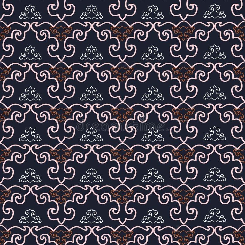Abstraktes geometrisches nahtloses Muster stock abbildung