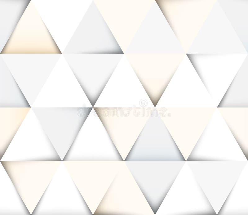 Abstraktes geometrisches nahtloses Muster mit Dreiecken stock abbildung