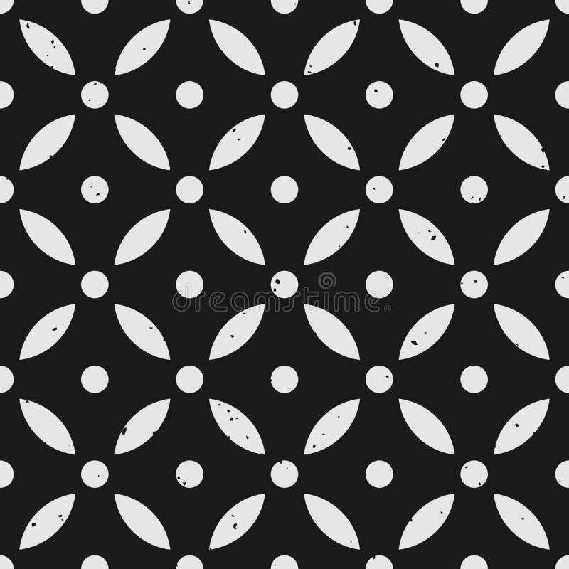 Abstraktes geometrisches nahtloses Muster mit entfernbarer grungy Beschaffenheit lizenzfreie abbildung
