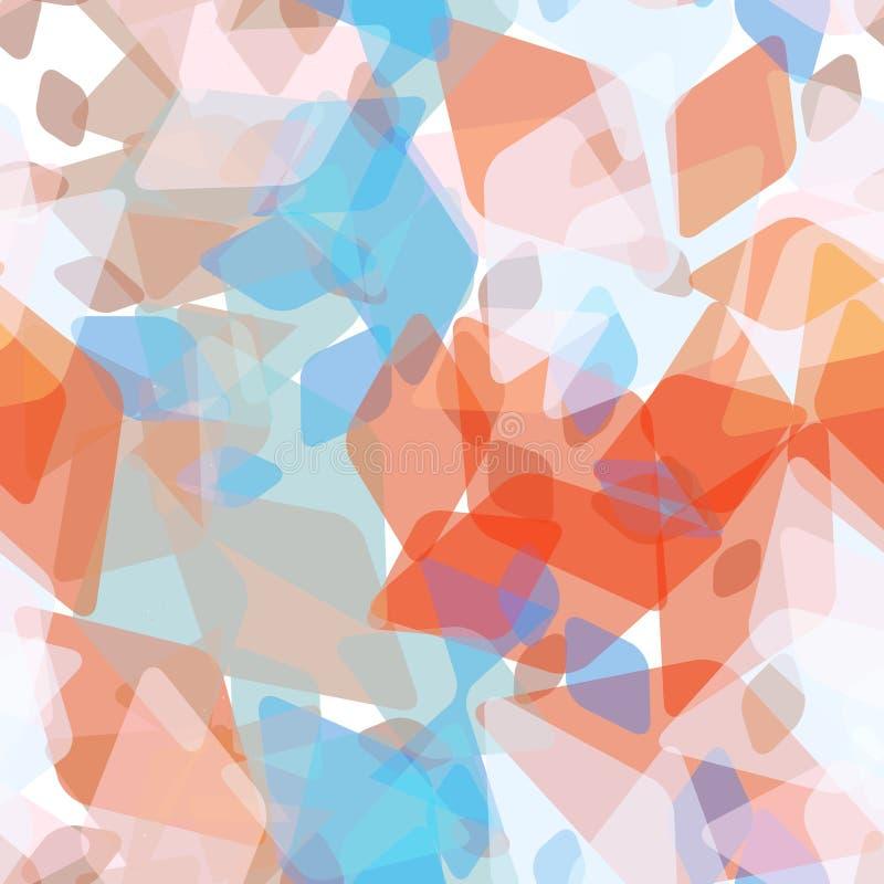 Abstraktes geometrisches nahtloses Muster mit Raute und glänzenden dekorativen zeitgenössischen Elementen rotes purpurrotes rosa  lizenzfreie abbildung