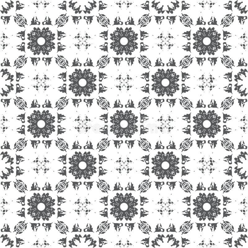 Abstraktes geometrisches nahtloses Muster mit Vögeln lizenzfreie abbildung