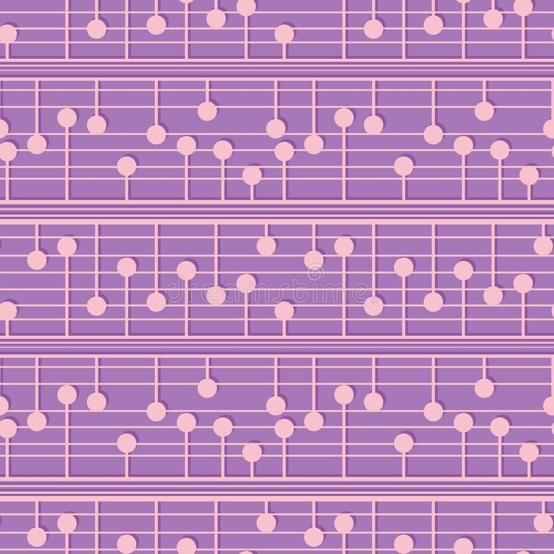 Abstraktes geometrisches nahtloses Muster Punktierte blasse Verzierung des Vektors f?r Gewebe, Packpapier, Gewebe, Tapete, Netz stock abbildung