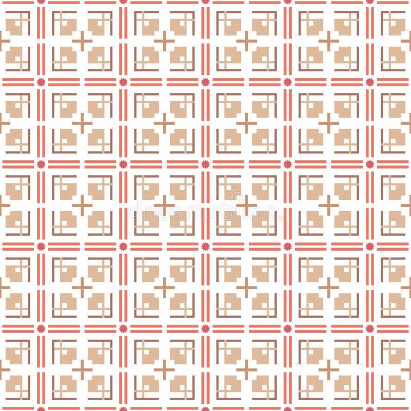 Abstraktes geometrisches nahtloses Muster Vektor stockbild