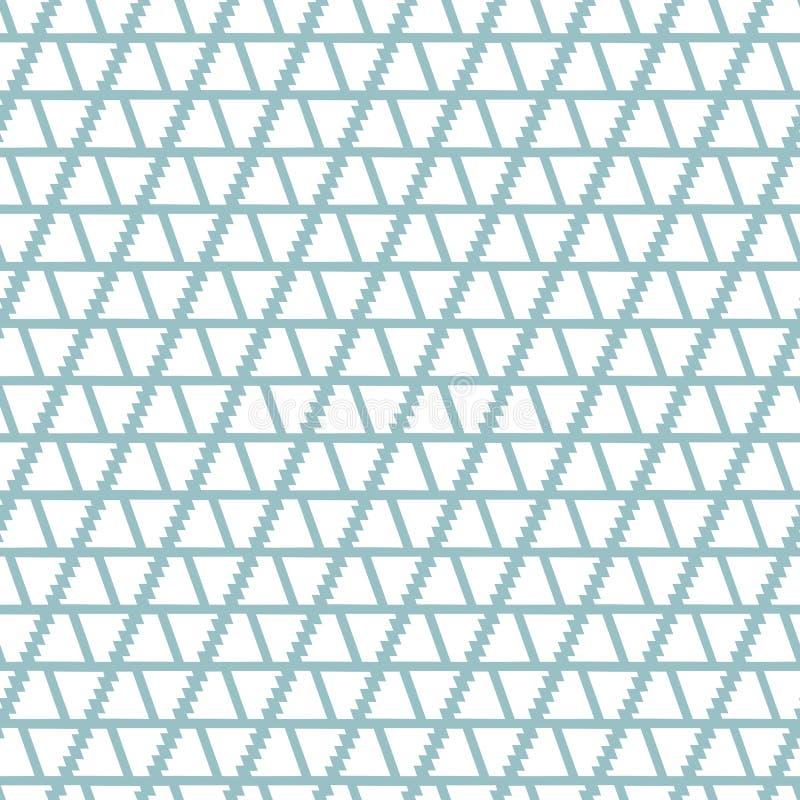 Abstraktes geometrisches nahtloses Vektormuster mit Formen und Linien auf hellblauem Hintergrund lizenzfreie abbildung