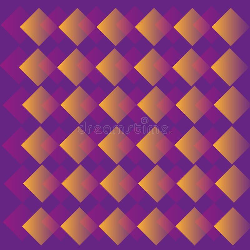 Abstraktes geometrisches purpurrotes Muster lizenzfreie stockfotografie