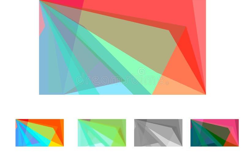Abstraktes geometrisches Vibrierende Auslegung lizenzfreies stockbild