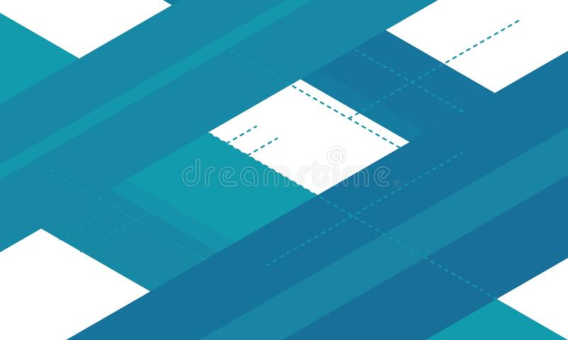 Abstraktes geometrisches weiße und blaue Linien Hintergrund entziehen Sie Hintergrund stock abbildung