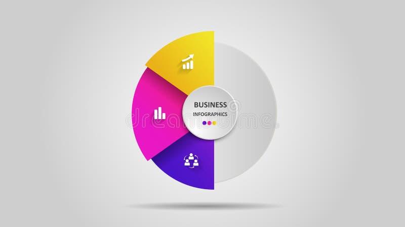 Abstraktes Gesch?ft infographics in Form von farbigen Zahlen und Schritten ENV 10 vektor abbildung