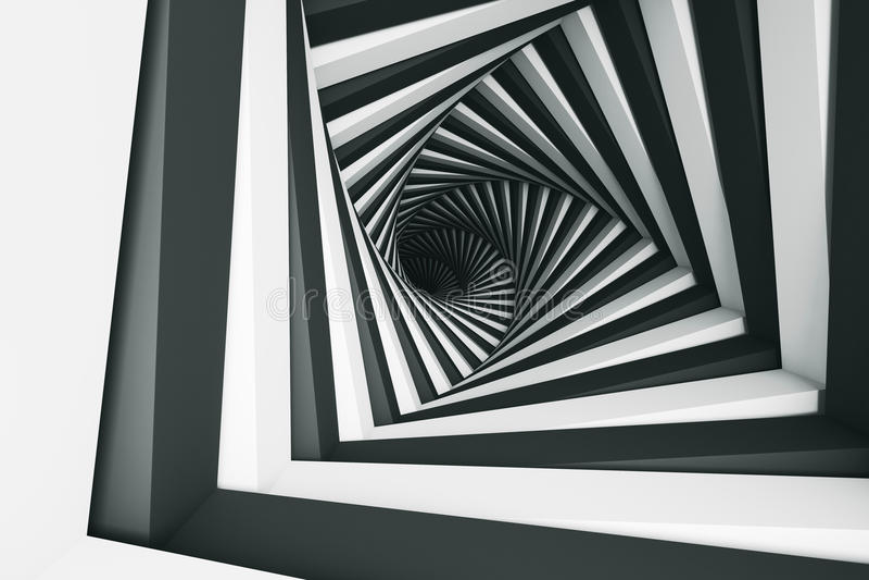 Abstraktes gestreiftes weißes und schwarzes Muster lizenzfreie abbildung