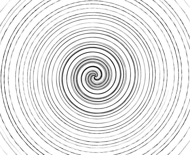 Abstraktes gewundenes Element auf unregelmäßige, gelegentliche Mode geometrisch stock abbildung