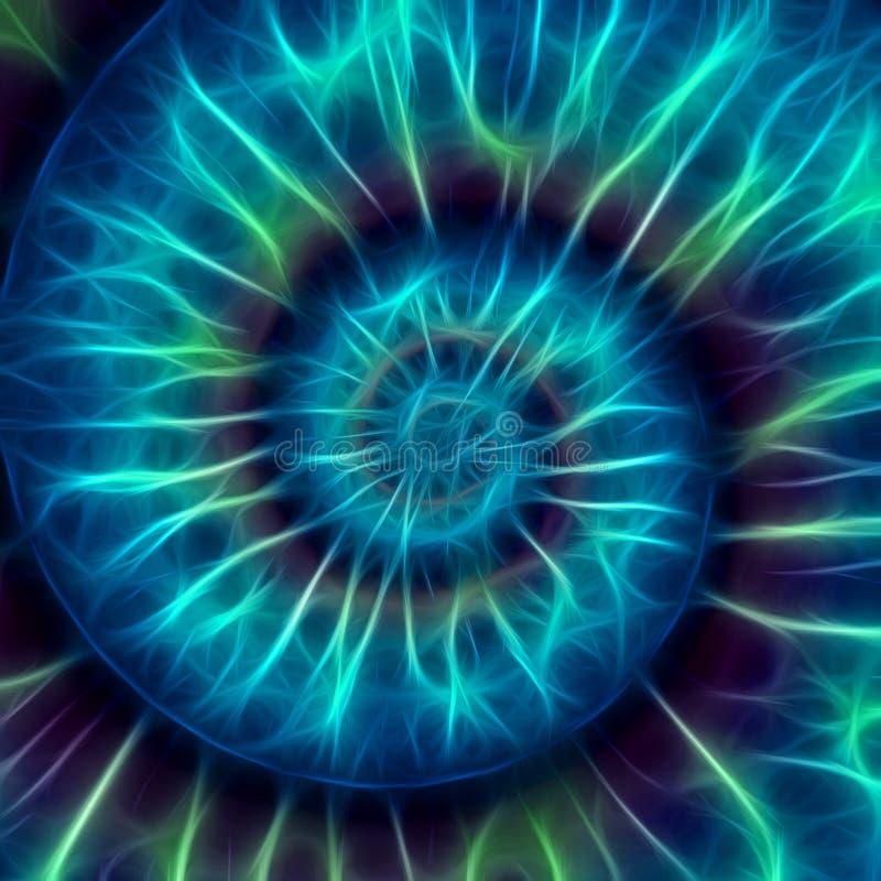Abstraktes gewundenes Muster. Fibonacci-Muster lizenzfreies stockfoto