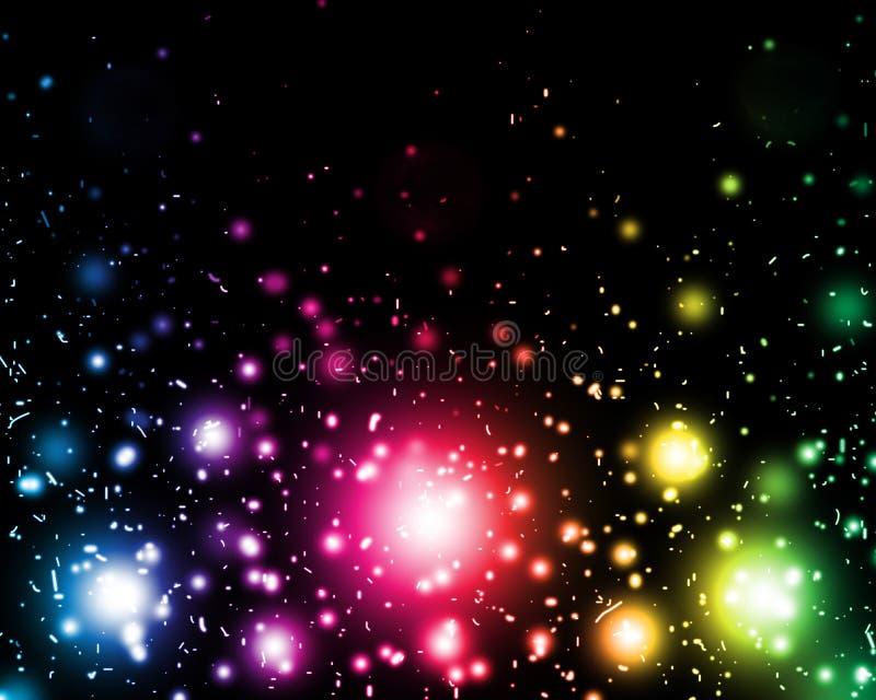 Abstraktes Glühen der bunten Leuchten vektor abbildung
