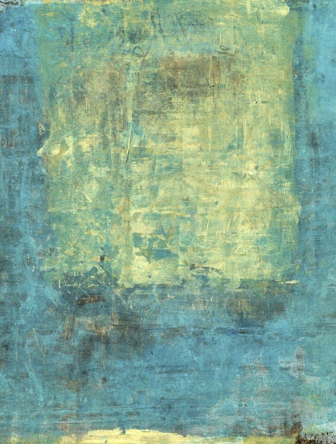 Abstraktes Gold und Blau stock abbildung