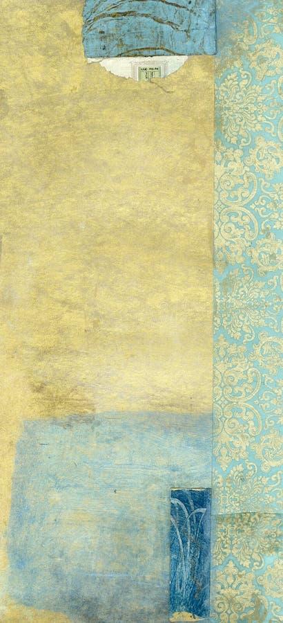 Abstraktes Gold und Blau vektor abbildung