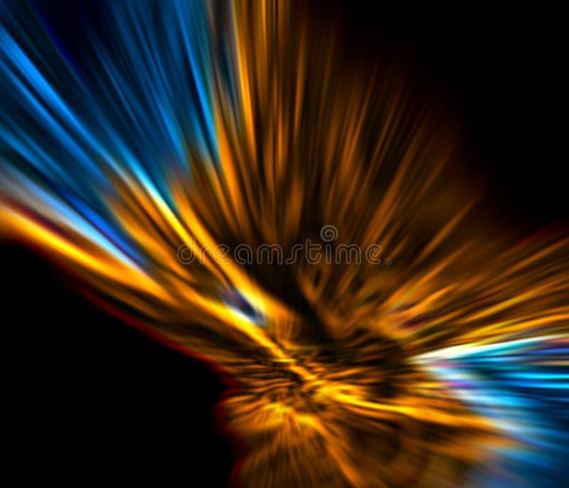 Abstraktes Gold und Blau stockbilder