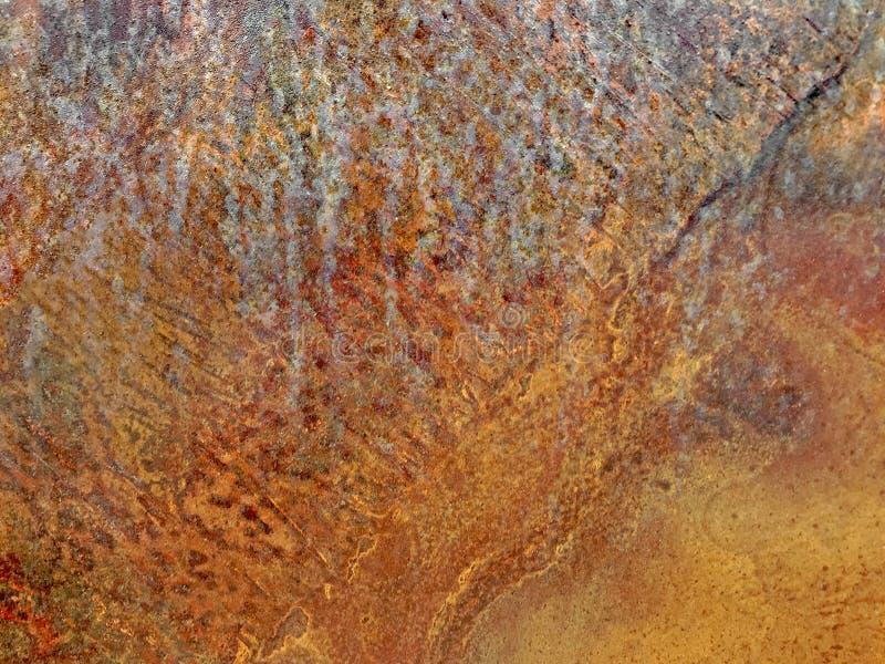 Abstraktes goldenes Kupfer- und Bronzemetall maserte Hintergrund stockfotografie