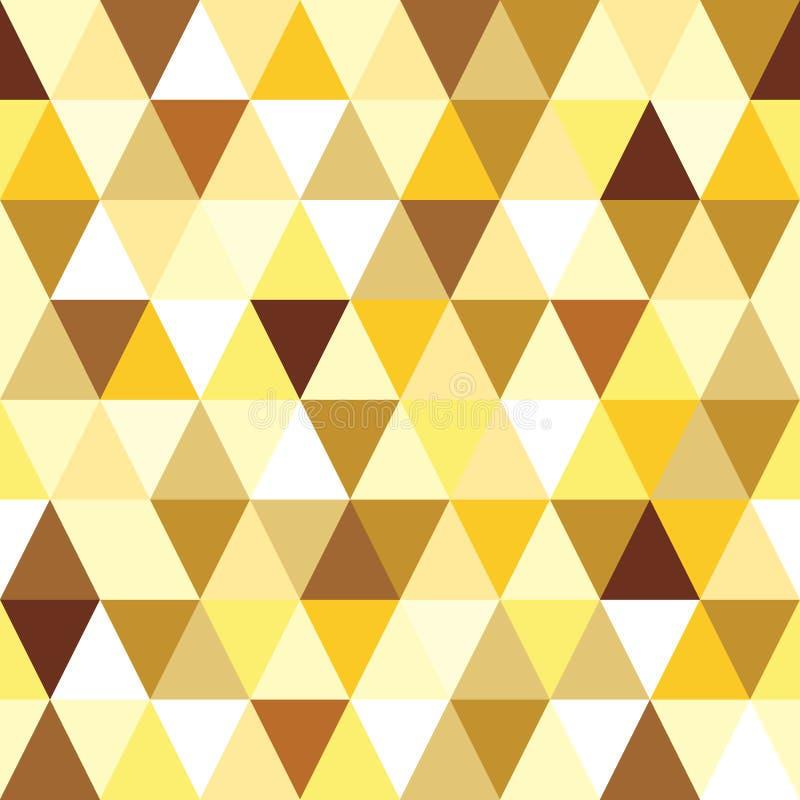 Abstraktes Goldnahtloses Dreieckmuster. stock abbildung
