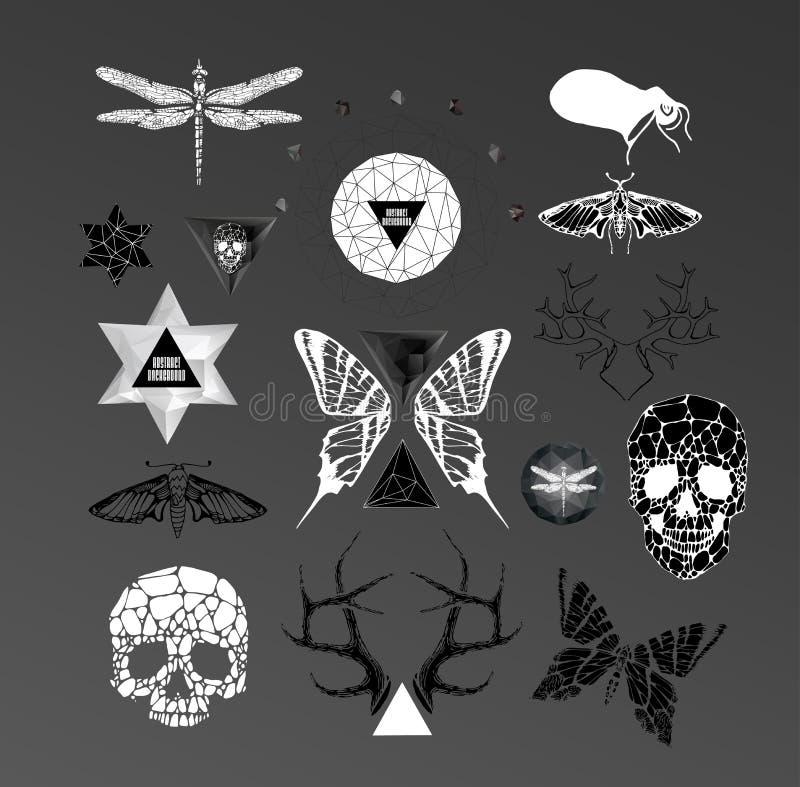 Abstraktes gotisches lizenzfreie abbildung