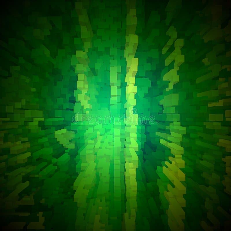 Abstraktes Grün berechnet des Hintergrundes stock abbildung