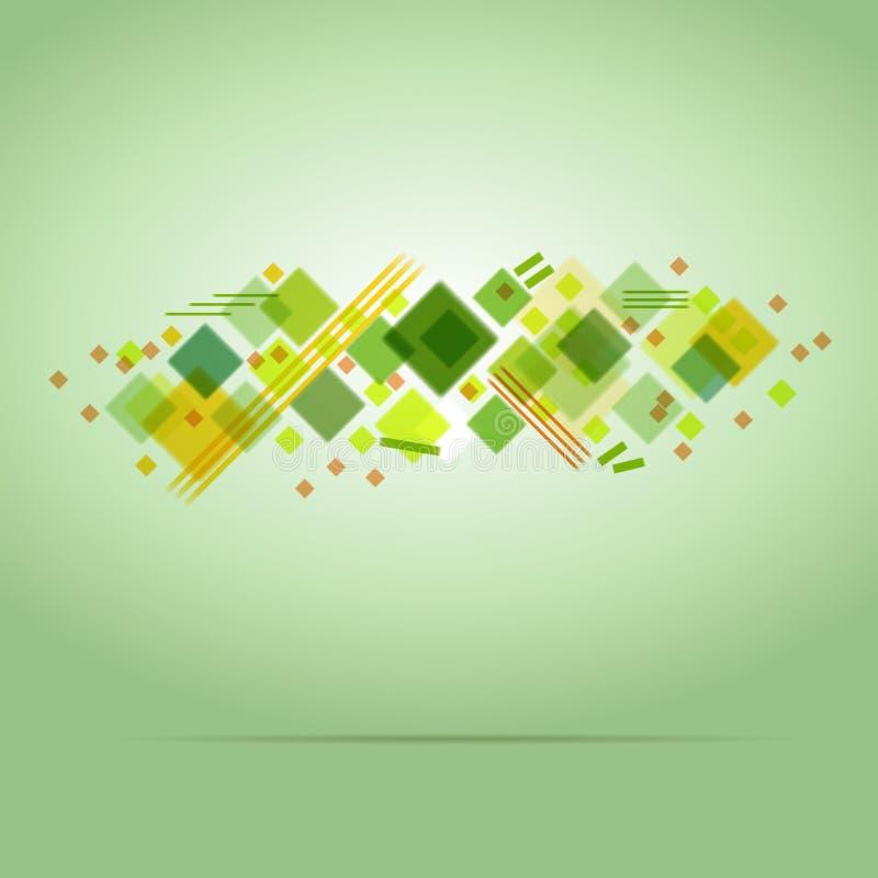 Abstraktes Grün farbiger Hintergrund vektor abbildung