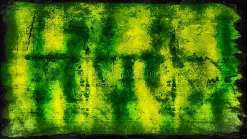 Abstraktes Grün und Schwarzglas-Effekt-malender Hintergrund lizenzfreie abbildung