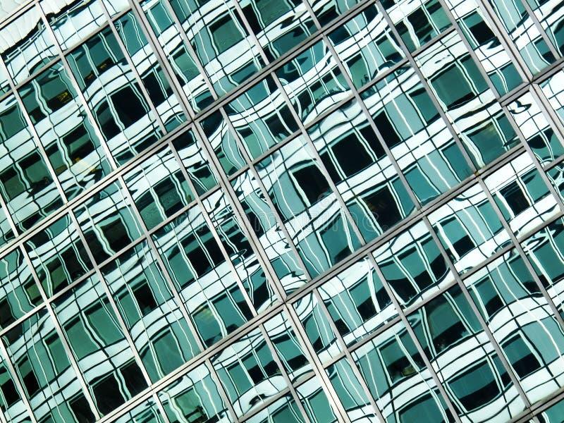 Abstraktes grünes Glas stockfoto