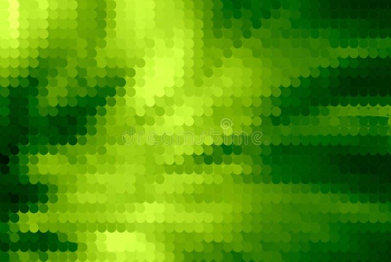 Abstraktes grünes Halbtonbild lizenzfreie abbildung
