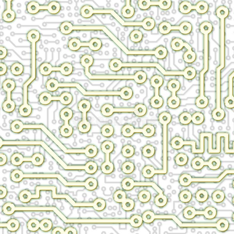 Abstraktes Grafisches Leiterplatte-Leuchtemuster Lizenzfreies Stockfoto