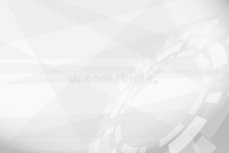 Abstraktes Grey Geometric Technology Background lizenzfreie abbildung