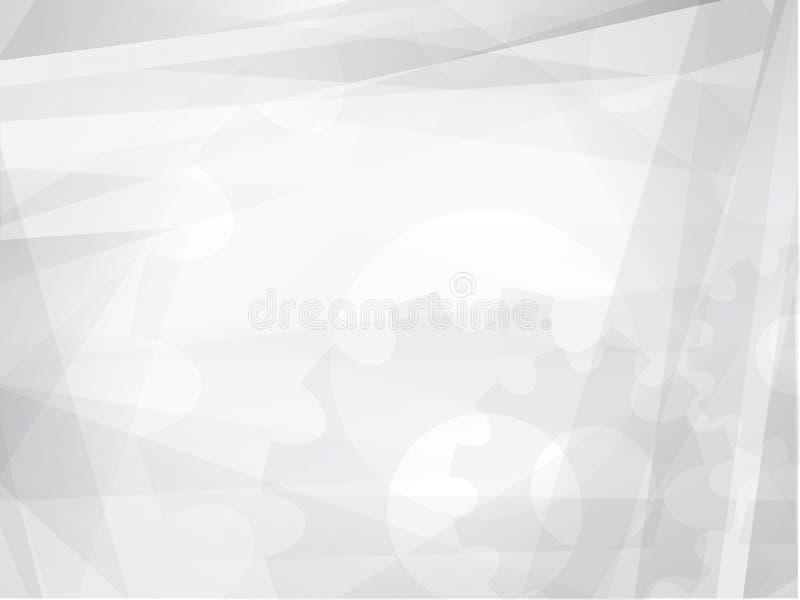 Abstraktes Grey Geometric Technology Background stock abbildung