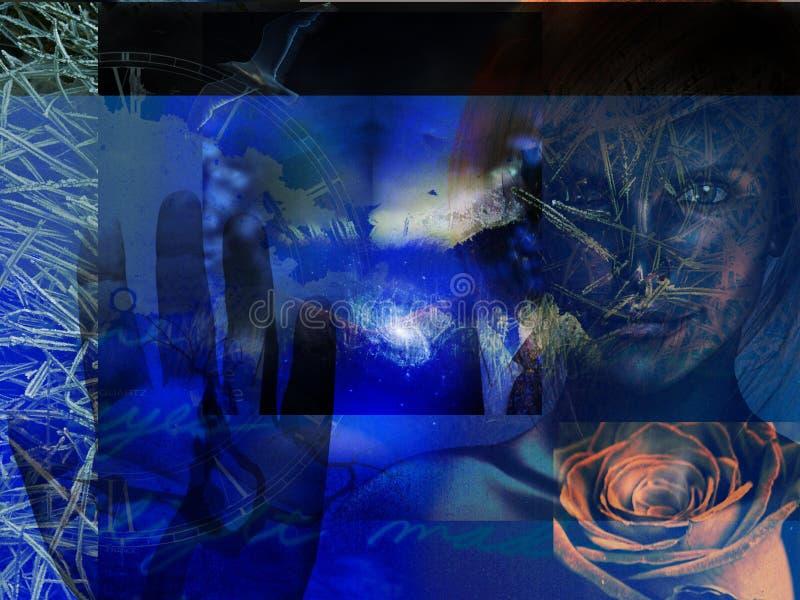 Abstraktes Grunge Blau vektor abbildung