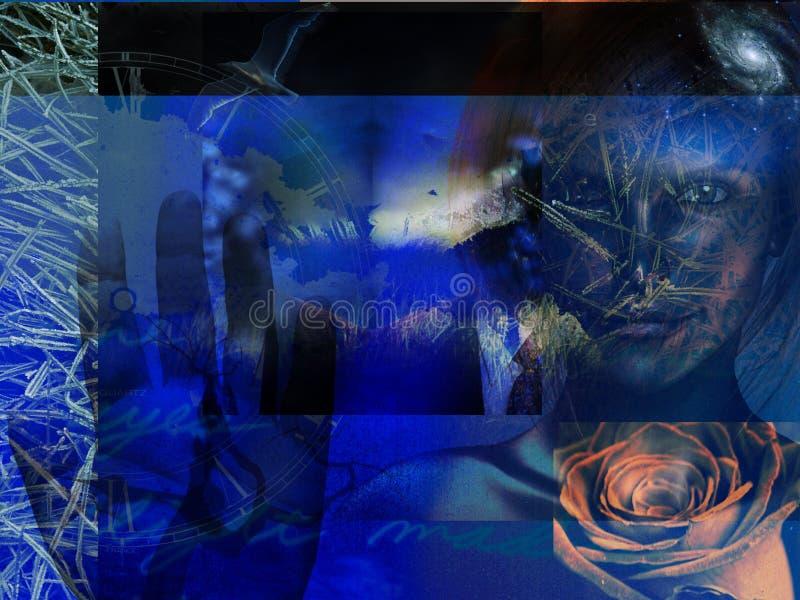 Abstraktes Grunge Blau lizenzfreie abbildung