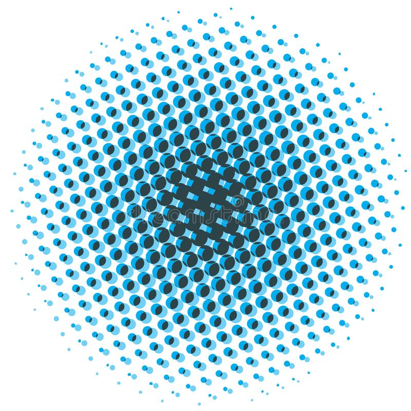 Abstraktes Halbtongestaltungselement Pop-Arten-Punkthintergrund Knall-AR stock abbildung