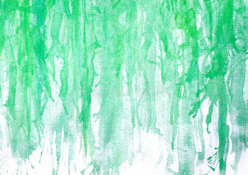 abstraktes handgemaltes grünes Aquarell auf Malereipapier backgro lizenzfreie stockfotografie