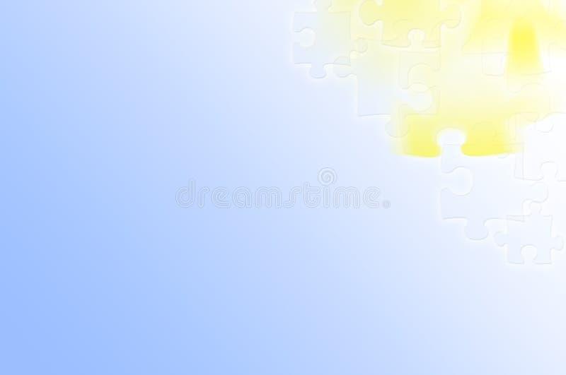 Abstraktes hellblaues - gelber Puzzlespielhintergrund vektor abbildung