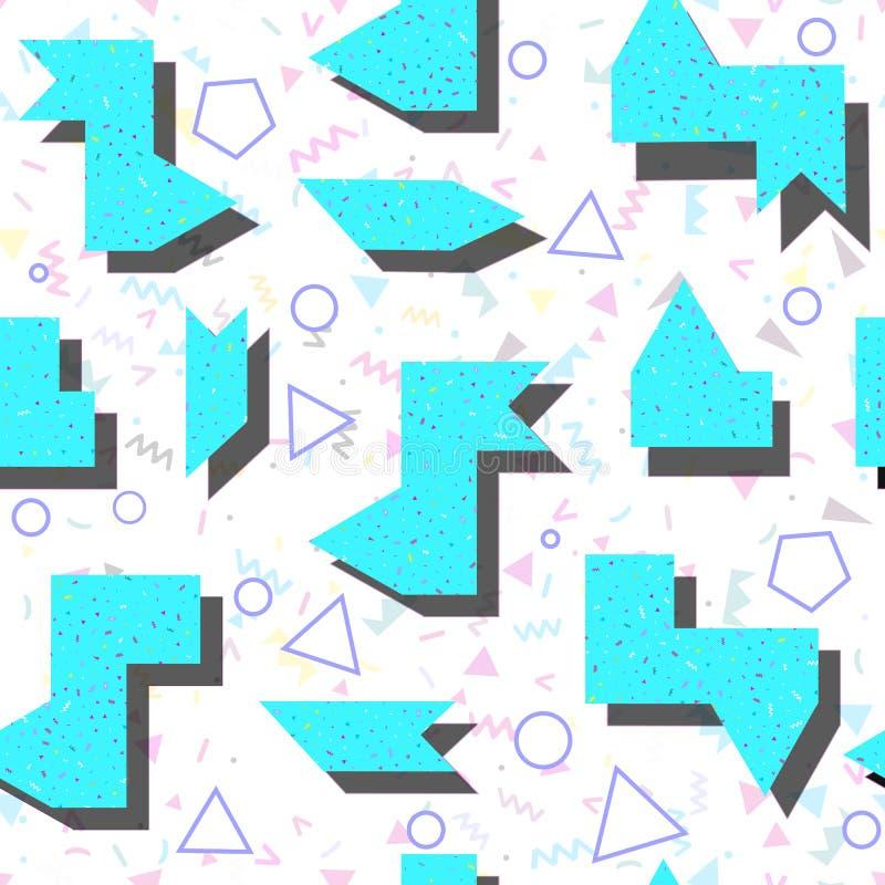 Abstraktes helles farbiges geometrisches Muster in der Art der 80 lizenzfreies stockfoto