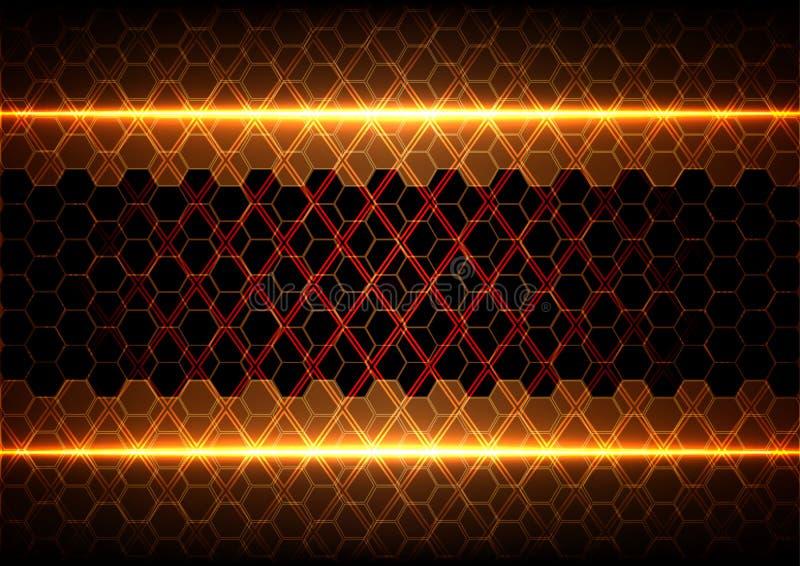 Abstraktes Hexagon und Quadrat vektor abbildung