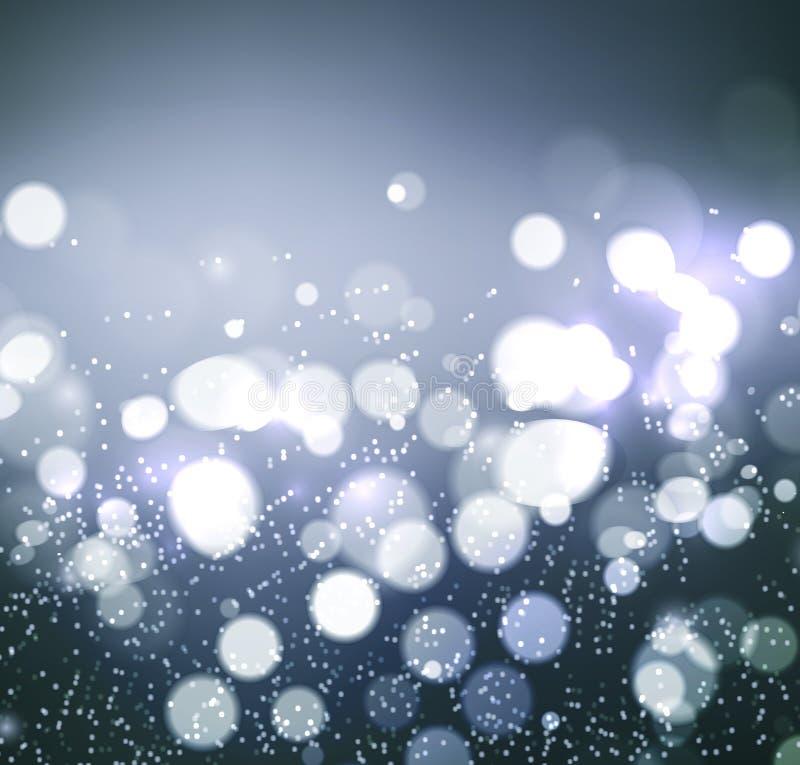 Abstraktes Hintergrundmuster der weißen Sterne auf dunkelroter Auslegung Festlicher eleganter abstrakter Hintergrund mit bokeh Li lizenzfreie abbildung