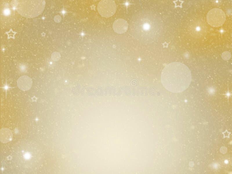 Abstraktes Hintergrundmuster der weißen Sterne auf dunkelroter Auslegung Goldenes Feiertags-Zusammenfassungs-Funkeln-Defocused Hi lizenzfreies stockfoto