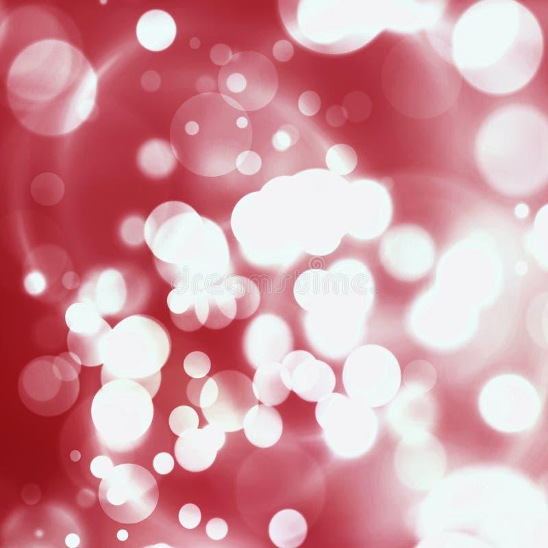 Abstraktes Hintergrundmuster der weißen Sterne auf dunkelroter Auslegung Rotes Feiertags-Zusammenfassungs-Funkeln-Defocused Rücks stockbilder