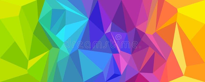 Abstraktes Hintergrundpolygon bunt lizenzfreie abbildung
