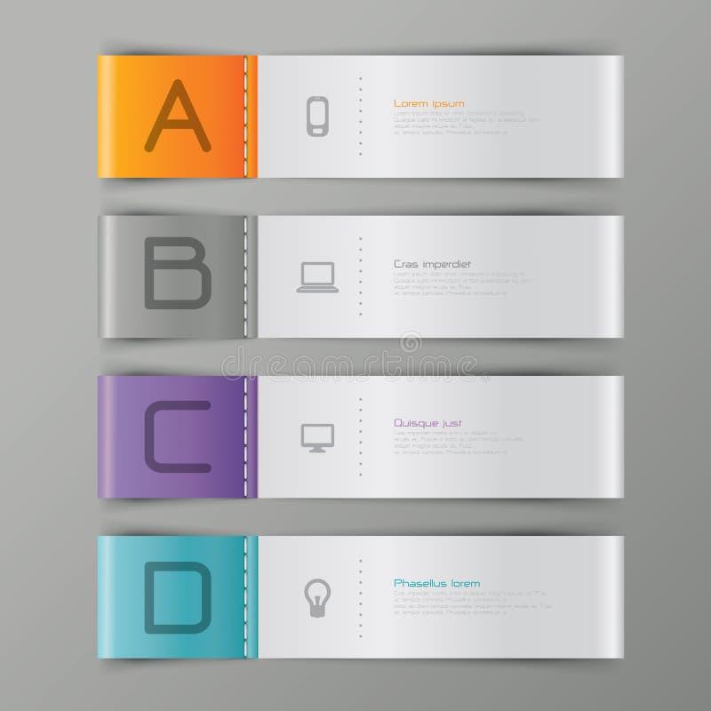 Abstraktes infographics Schablonendesign lizenzfreie abbildung