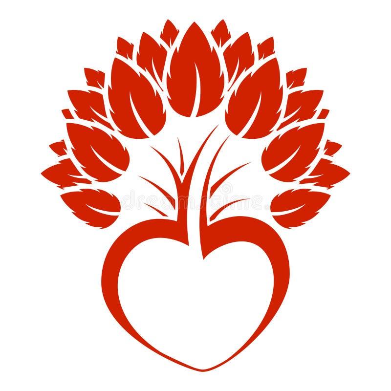 Abstraktes Innerbaum-Ikonenzeichen lizenzfreie abbildung
