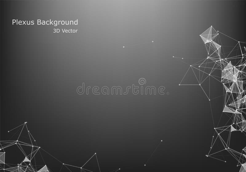 Abstraktes Internetanschluss- und Technologiegrafikdesign Virtuelles Konzept des Gesch?fts vektor abbildung