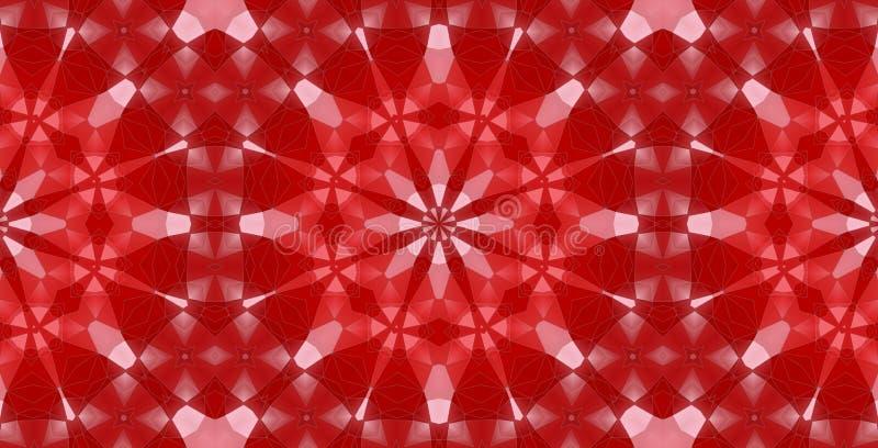 Abstraktes kaleidoskopisches buntes Muster stock abbildung